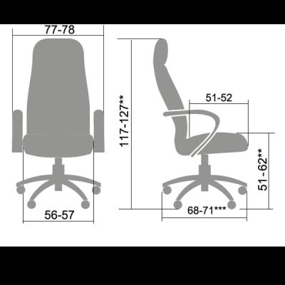 Кресло руководителя Metta LK-12